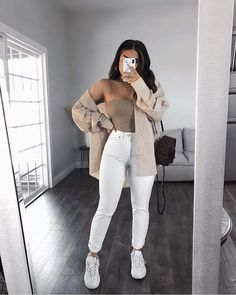 Trendy Fall Outfits, Retro Outfits, Cute Casual Outfits, Simple Outfits, Stylish Outfits, Teenage Outfits, Winter Fashion Outfits, Mode Kylie Jenner, Jugend Mode Outfits