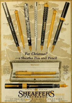 1922 Sheaffer's Pens and Pencils Vintage Look Metal Sign Vintage Ads, Vintage Looks, Sheaffer Fountain Pen, Fruit Gums, Hail Storm, Pens And Pencils, Pen And Paper, Calligraphy Ink, Fountain Pens