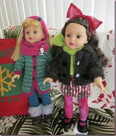 Noel and Ginger, my new Madame Alexander dolls.