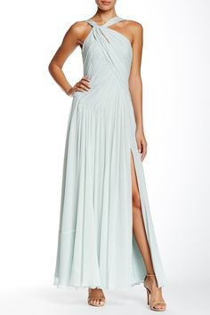 Long Silk Chiffon Gown by Jill Jill Stuart on @nordstrom_rack