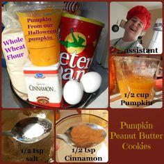 Pumpkin Peanut Butter Cookies for Dogs