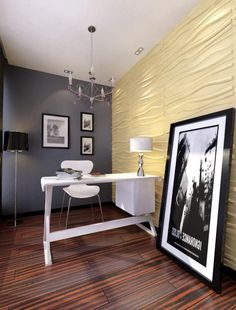 Wanden in woonkamer voorzien met 3D wandpaneel Wave. | Wanddecoratie ...
