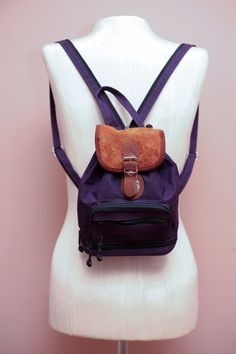 Vintage 90s Grunge Revival Purple Mini Backpack bee0aea8d9185