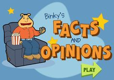 Free Literacy game ~ Fact or Opinion? Great teaching game on PBS Kids Library Lessons, Reading Lessons, Reading Strategies, Reading Activities, Reading Skills, Reading Comprehension, Library Activities, Listening Skills, Library Ideas