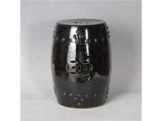 Black Garden Stool | Black Ceramic Stools | Black Porcelain Stool | Black  Ceramic Stool | Black Porcelain Stools | Black Potteryu2026 | Black Garden  Stools ...