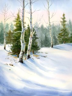 snow watercolor paintings | Cecy Turner - Exhibits and Awards