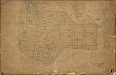 Plan of the Streets City of Oakland adopted by the Council of the City of Oakland by Ordinance Nov. 16th 1868. Approved by the Mayor Nov. 20th 1868. (Manuscript Plan) - Barry Lawrence Ruderman Antique Maps Inc.