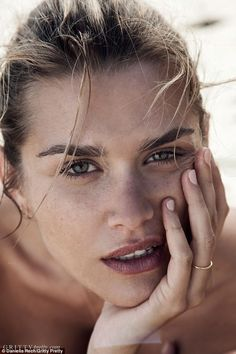 Beach babe: The shoot celebrated the launch of Eleanor Pendleton's new online beauty magaz...