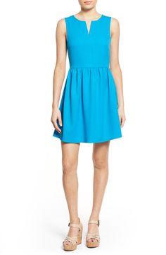 Everly 'Rowan' Split Neck Fit & Flare Dress