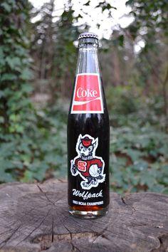 NC State University Wolfpack Coke from 1983. $7.00, via Etsy.