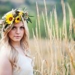 Rustic Sunflower Flower Crown Inspiration