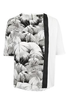 Oversized Mix Palm Print Tee