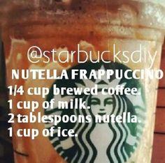 DIY Nutella frappuccino