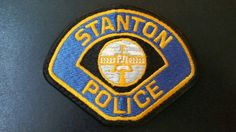 Stanton Police Patch, Orange County, California (Last Issue - Defunct - Department disbanded in 1988, city contracts police services from Orange County Sheriff)