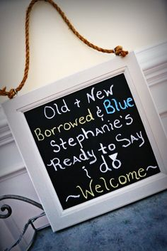 Welcome Chalk Board Sign for a Bridal Shower