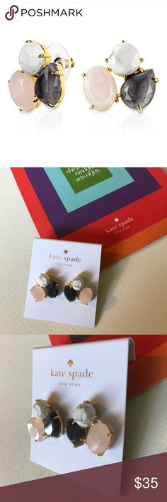 NWT Kate Spade Cluster Stone Earrings Brand: Kate Spade   Item: Cluster Blush Multi Stud Earrings   Condition: Brand New/NWT  Description: Intricate cluster earrings in Blush Multi-Color stones. Gold setting & posts. Statement Piece.   🍍🍍🍍Bundle & Save with my Other Listings! kate spade Jewelry Earrings
