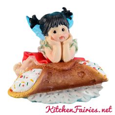Cannoli Fairie - From Series Thirty Five of the My Little Kitchen Fairies collection