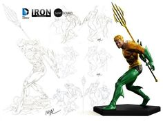 Instagram media by ivan_costa - These just in: Aquaman 1:10 statue designs by Ivan Reis. Statue by Iron Studios and Chiaroscuro Studios. #CCXP2015 exclusive. #FromTheCollection #art #aquaman #dccollectibles #comicsruleeverythingaroundme