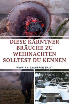 Weihnachten wird bei dir zu Hause zelebriert? Dann sind diese Bräuche aus Kärnten für dich interessant. In den österreichischen Alpen werden noch alte Traditionen gepflegt. Was es damit auf sich hat, verrate ich dir in meinen Blogbeitrag. Bergen, Outdoor Decor, Ski Trips, Winter Vacations, Christmas Holidays, Mountains