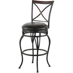 X-Back Barstool with Wooden Backrest Accent, 30""