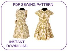 Computer drafted PDF sewing pattern. The Sound of Music Louisa