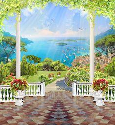фрески и фотообои на заказ Photography Studio Background, Studio Background Images, Photography Backdrops, Photo Background Images, Background Images Wallpapers, Photo Backgrounds, Beautiful Landscape Wallpaper, Beautiful Landscapes, Landscape Art