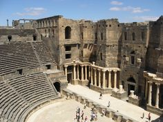 Roman amphitheater, Bosra Syria (Let's hope it's still there 5/13)