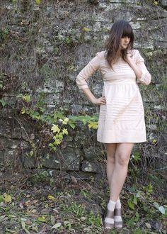 Style File (via Polka Dot Socks, Brown Sandals, Alexa Chung, Ankle Socks, Tj Maxx, Simple Dresses, 18th, Tights, High Neck Dress