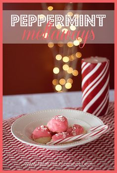 Peppermint Meltaways--these cookies literally melt in your mouth!  Gluten-free recipe.