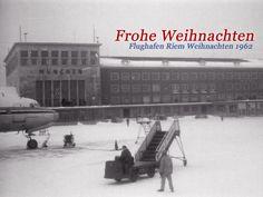 Weihnachten Flughafen München-Riem im Jahr 1962