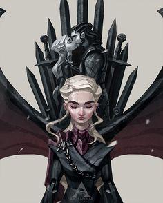 Daenerys Targaryen - Game of Thrones Game Of Thrones Artwork, Got Game Of Thrones, Game Of Thrones Quotes, Game Of Thrones Illustrations, Daenerys Targaryen, Khaleesi, Targaryen House, Serie Got, Photoshop 4