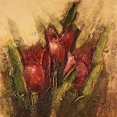 Bloemen rood, J. de Graaf