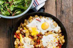 Hashbrown met paprika en eieren