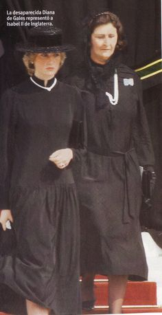 September 18, 1982: Princess Diana leaving Saint Nicholas Cathedral after the Requiem Mass for Princess Grace on her first official engagement representing Queen Elizabeth.