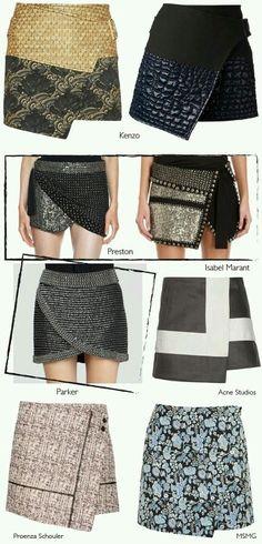 A assimetria é ideal para quem quer um look fashion.