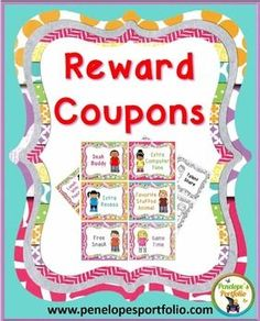 Reward positive behavior with 36 Reward Coupons / reward system.  Also included are 6 additional blank coupons.  They are great for Classroom Management and encourage Character Education skills.  They will also help with behavior modification in the classroom.TEACHING SUGGESTIONCut and laminate coupons, so that they can be used over and over again!