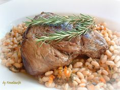 A Feast for the Eyes: Ina Garten's Braised 4-Hour Lamb & Provencal French Beans (in a dutch oven)