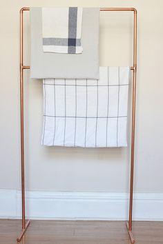 DIY Handtuchhalter aus Kupferrohren