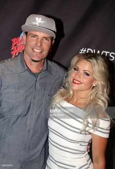 Vanilla Ice and Witney Carson pose as Season 23 of 'Dancing With The Stars' meets the press at Planet Hollywood Times Square on September 7, 2016 in New York City. .