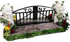 Iron Gates To Heaven - Bespoke Funeral Flowers and Tribute Art by Monica F Hewitt Florist Sheffield http://www.monicafhewitt.co.uk/