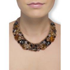 Biżuteria artystyczna, komplet naszyjnik i bransoletka