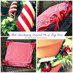 Fourth of July decorating your front door/porch. Easy and cute ideas @meetuatthepicketfence