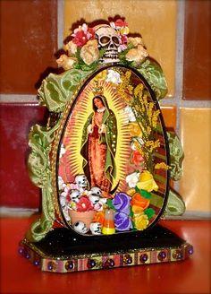 La Virgen de Guadalupe~Day-of-the-Dead-Ham-Can shrines.  Tristan Robin Blakeman