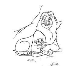 Leuk voor kids kleurplaatKoning Musafa en Simba