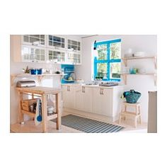 GROLAND Kitchen island - IKEAif you have it perpendicular to the wall, you can hang pots on one side