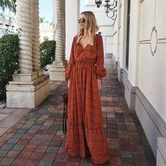 Nothing crazy going on over here this weekend. My mom is still in town and now Nana (Chris's mom) is here too! I did ho. Modest Fashion, Boho Fashion, Girl Fashion, Fashion Outfits, Beautiful Casual Dresses, Looks Jeans, Hippy Chic, Column Dress, Travel Dress