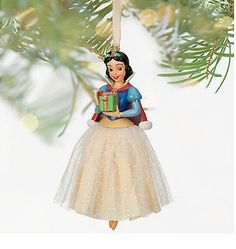 Disney Deluxe Snow White Sketchbook Dress Holiday Christmas Ornament Gift NEW
