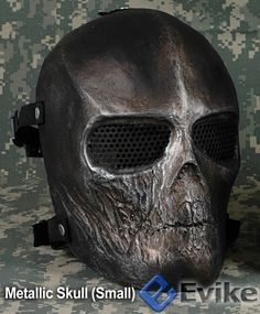 Matrix Cactus Hobby Custom Full Face Airsoft Metallic Skull Mask | Popular Airsoft