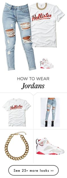 A fashion look from August 2015 featuring white tee, ripped jeans and chain necklaces. Browse and shop related looks. Fashion Looks, Urban Fashion, Teen Fashion, Love Fashion, Fashion Outfits, Womens Fashion, Sneakers Fashion, Sporty Outfits, Dope Outfits