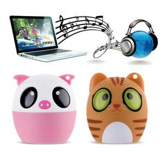 Mini Wireless Bluetooth Speaker Cute Animal Cartoon Pig Dog Bear Tiger Panda Pocket Speaker Special Gift For Friend Kid Child - PinkyPiggy Cartoon Pig, Speakers, Gifts For Friends, Special Gifts, Panda, Bluetooth, Cute Animals, Bear, Pocket